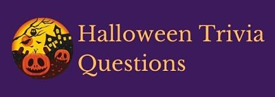 Header image for a page of Halloween trivia questions and answers.